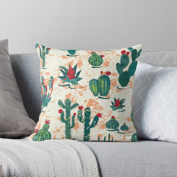 Cactus and succulents Throw Pillow