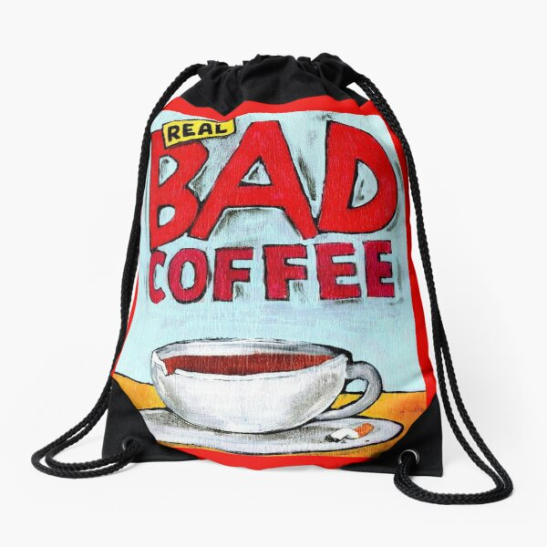 REAL BAD COFFEE Drawstring Bag