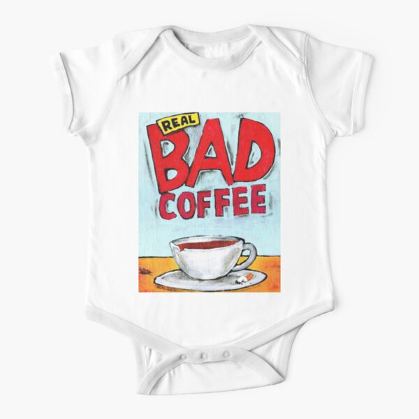 REAL BAD COFFEE Short Sleeve Baby One-Piece