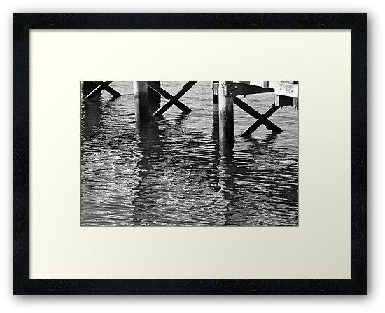 Black and White Piers by alexeganjesson