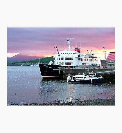 Oban sunset with ' Hebridean Princess !' Photographic Print