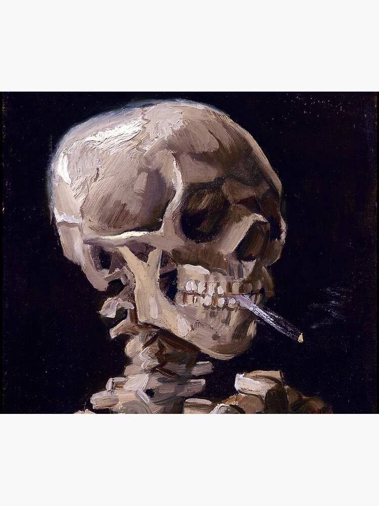 Vincent Van Gogh - Skull with Burning Cigarette (new color edit) by DejaVuStudio