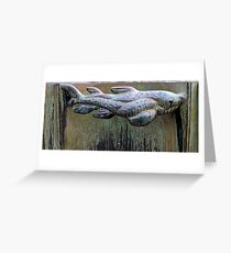 Very Fishy Sculpture by Carl Milles Greeting Card