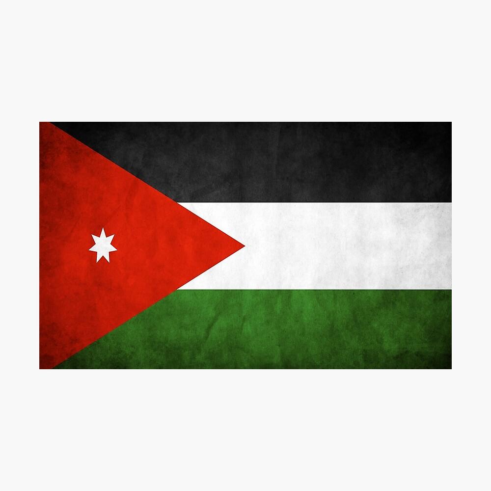 Jordan Jordanian Flag National Flag Of Jordan Poster By Redeyedigital Redbubble