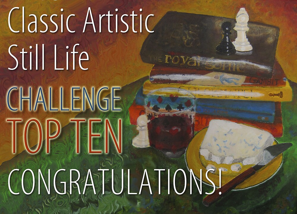 Classic Artistic Still Life Group: Top Ten Banner by Shani Sohn