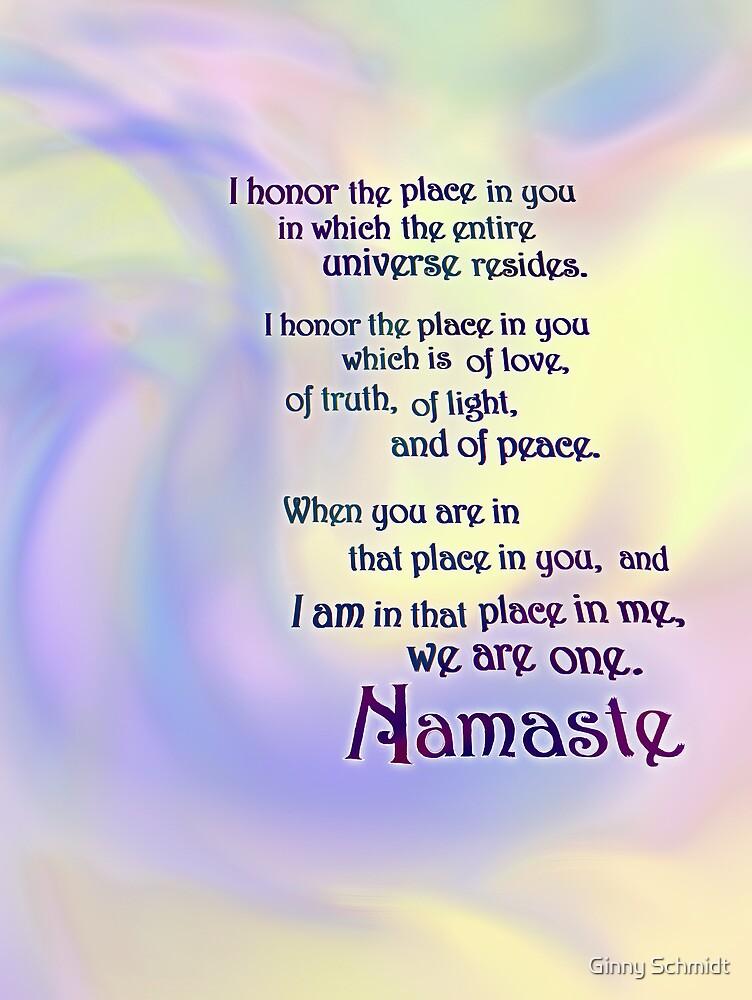 Namaste by Ginny Schmidt