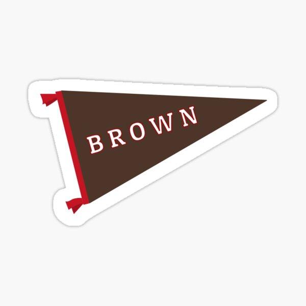 Brown Pennant Sticker Sticker