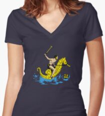 Real Water Polo Women's Fitted V-Neck T-Shirt