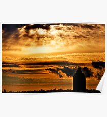"New York City ""Dreaming in Sunset"" Poster"