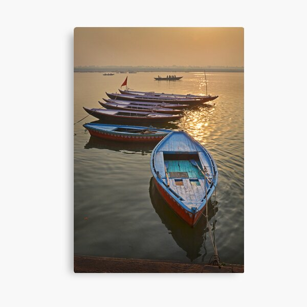 Boats on the Ganges Canvas Print