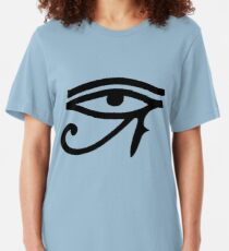 Eye of Horus (Black) Slim Fit T-Shirt