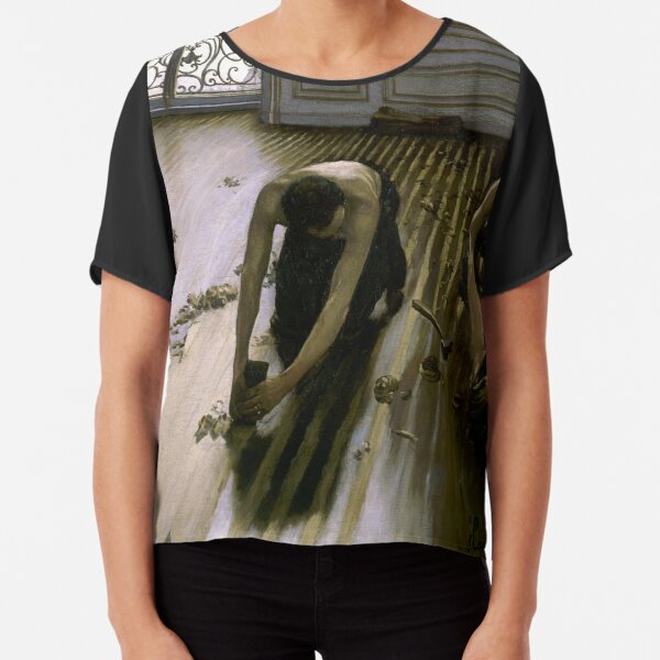 city workers have very rarely been the subject of paintings Chiffon Top