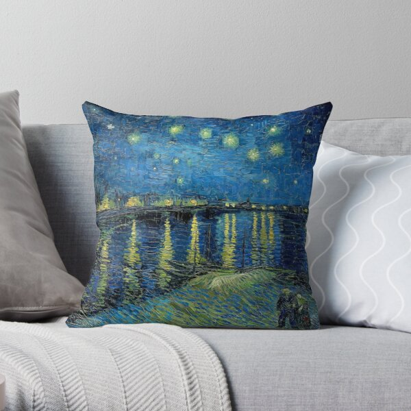 'Starry Night Over The Rhone' by Vincent van Gogh  Throw Pillow
