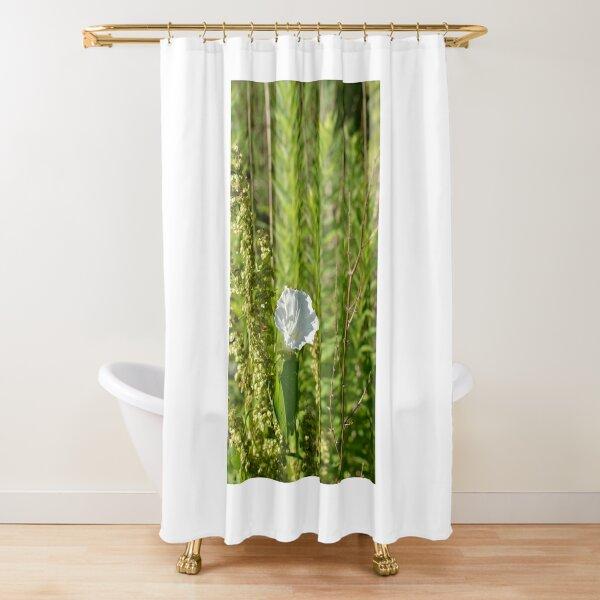 LONLY WILD WHITE FLOWER Shower Curtain