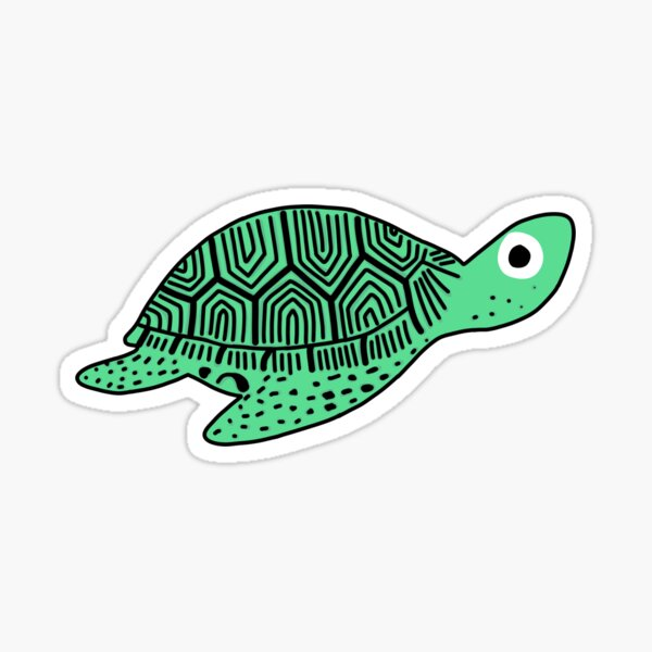 little sea turtle Sticker