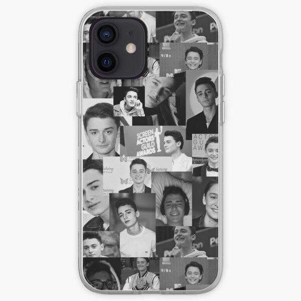 Black and White Noah Schnapp  iPhone Soft Case