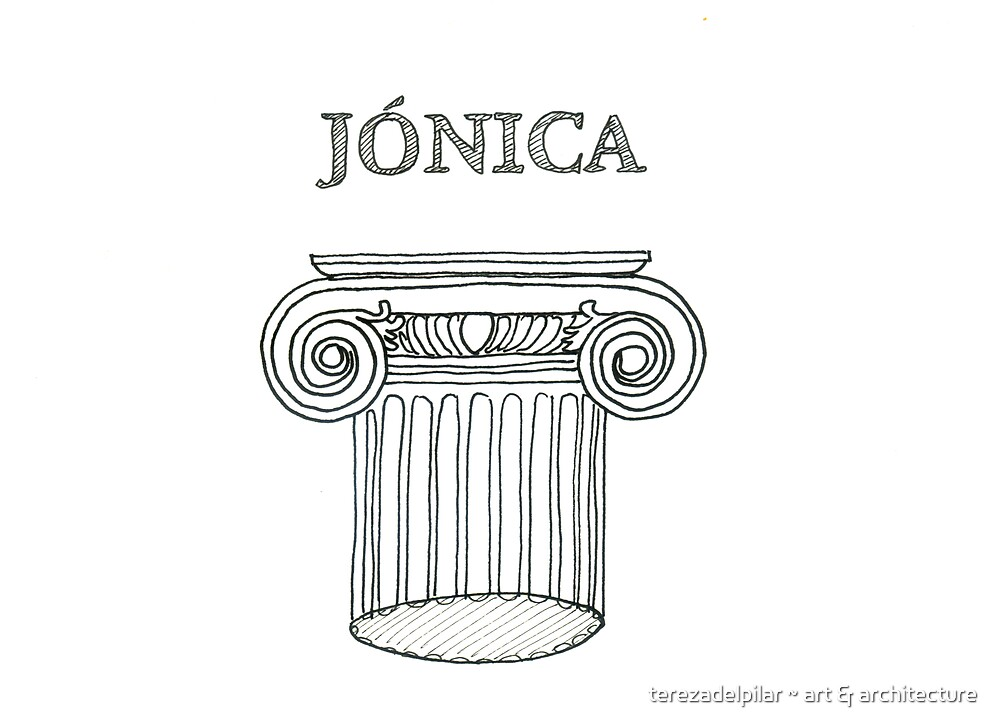 Ordem Jónica . Ionic Order. ipad by terezadelpilar ~ art & architecture