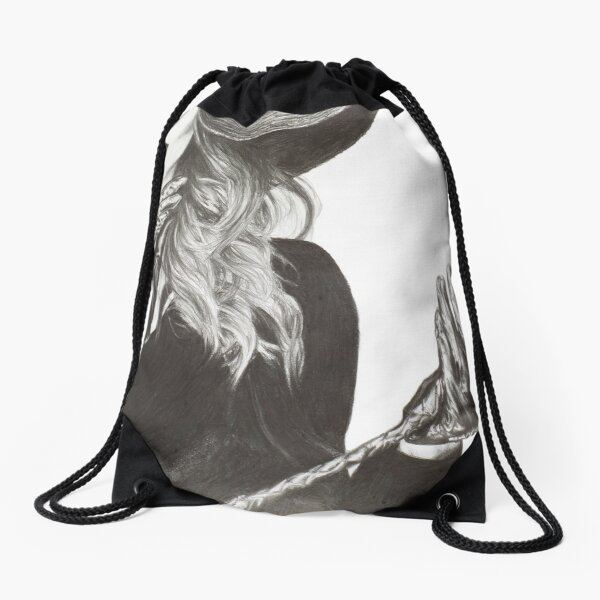 Shush - Lady with a Whip Drawstring Bag