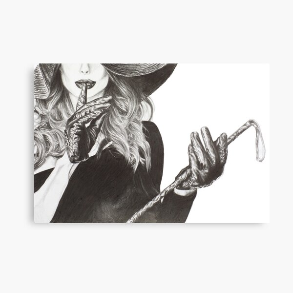 Shush - Lady with a Whip Canvas Print