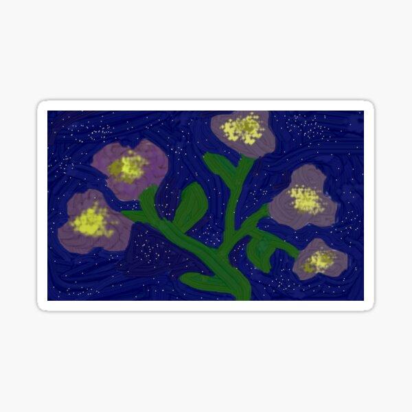 Cute purple flowers :> Sticker