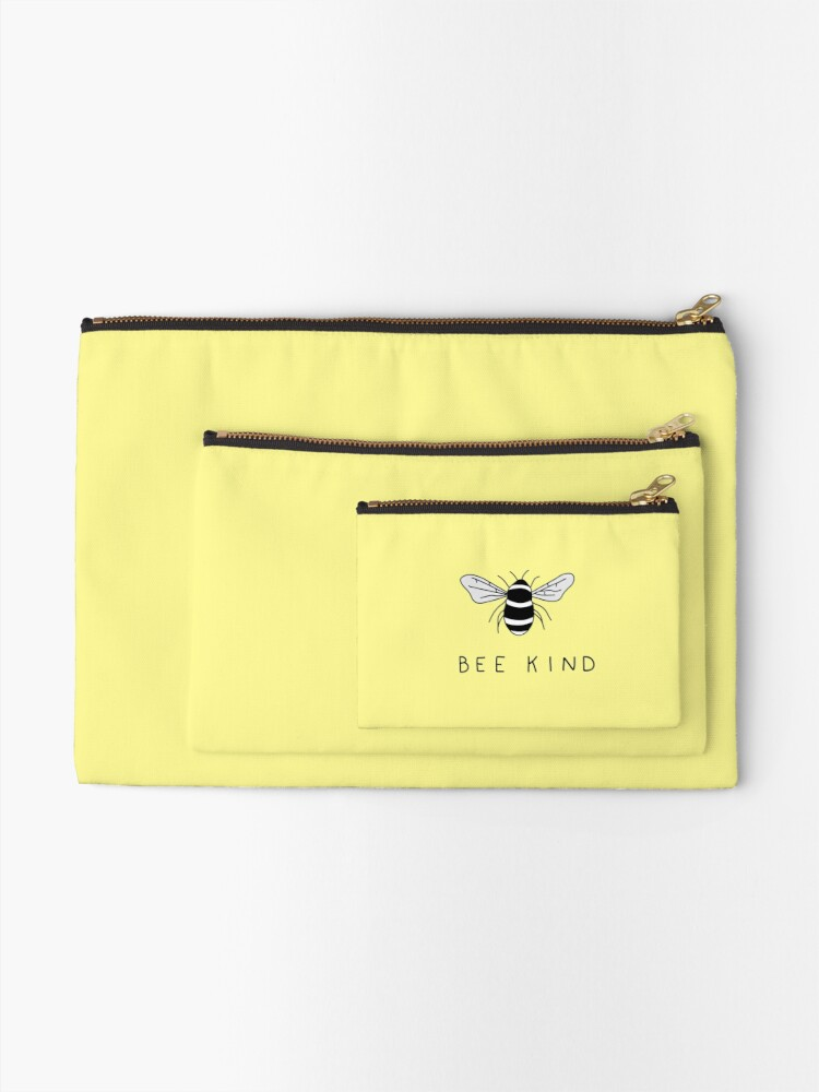Alternate view of bee kind Zipper Pouch
