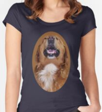✌☮I'M LAUGHTING LIKE NOBODYS LOOKIN DOG TEE SHIRT ✌☮  Women's Fitted Scoop T-Shirt