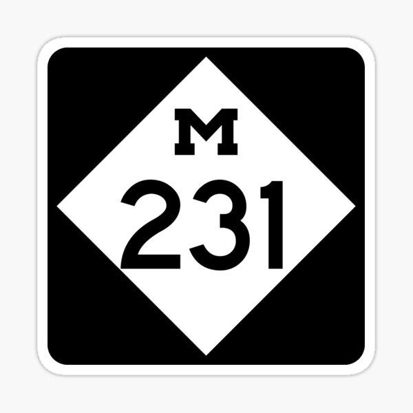 Michigan State Route 231 (Area Code 231) Sticker