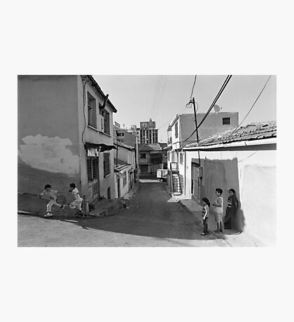 Children Playing on the Street in Izmir Turkey Photographic Print