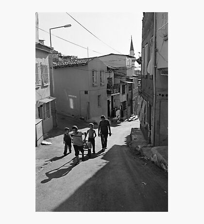 A Group of Children in Kadifekale District in Izmir, Turkey Photographic Print