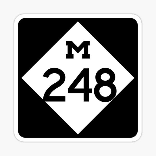 Michigan State Route 248 (Area Code 248) Sticker