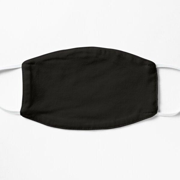 Deep Black Face Mask Flat Mask