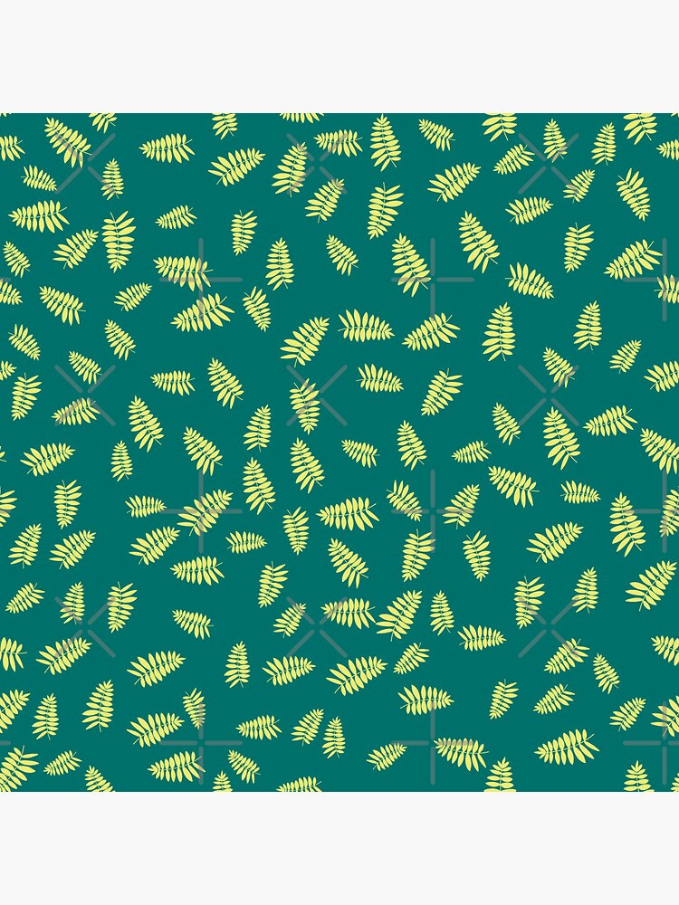 Bright Green and Yellow Falling Leaves Summer Pattern by chanzds
