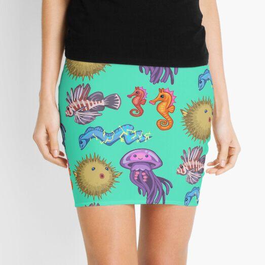 Cute Ocean Set Mini Skirt