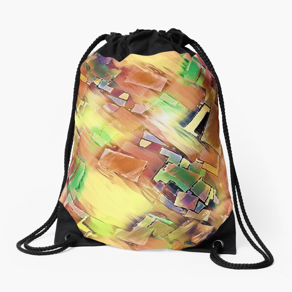 Geometry In Art Drawstring Bag
