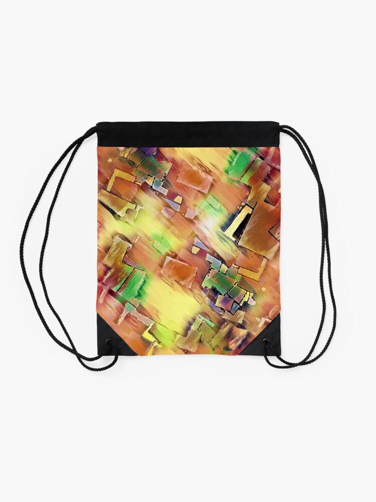Alternate view of Geometry In Art Drawstring Bag
