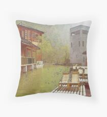 Water Village (Watercolor) Throw Pillow