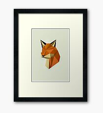 Geometric Fox Framed Print