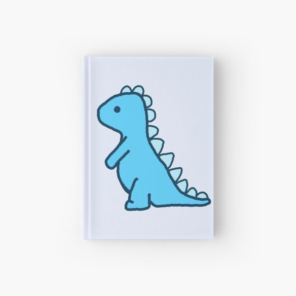 little blue dinosaur Hardcover Journal