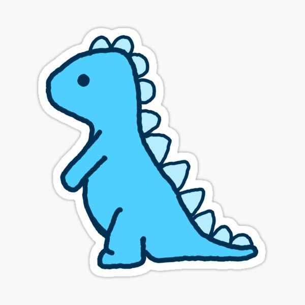 little blue dinosaur Sticker