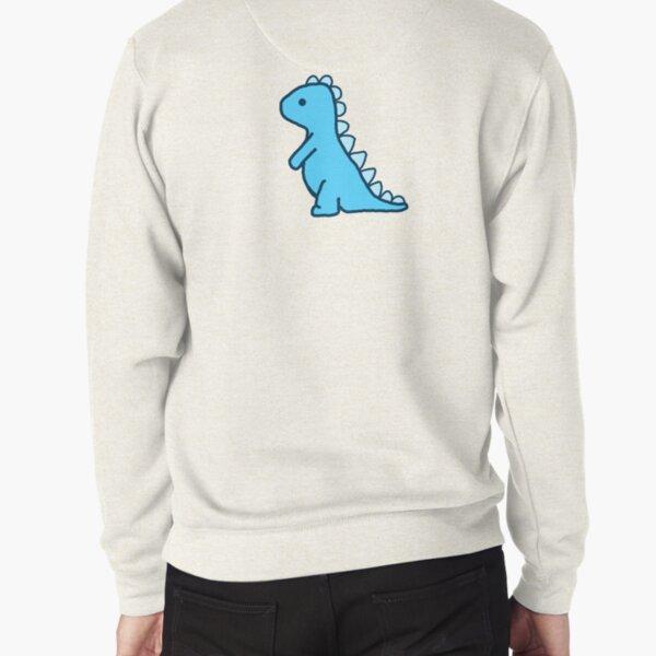 little blue dinosaur Pullover Sweatshirt