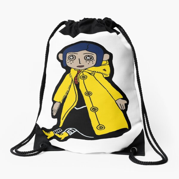 Coraline Doll Drawstring Bags Redbubble