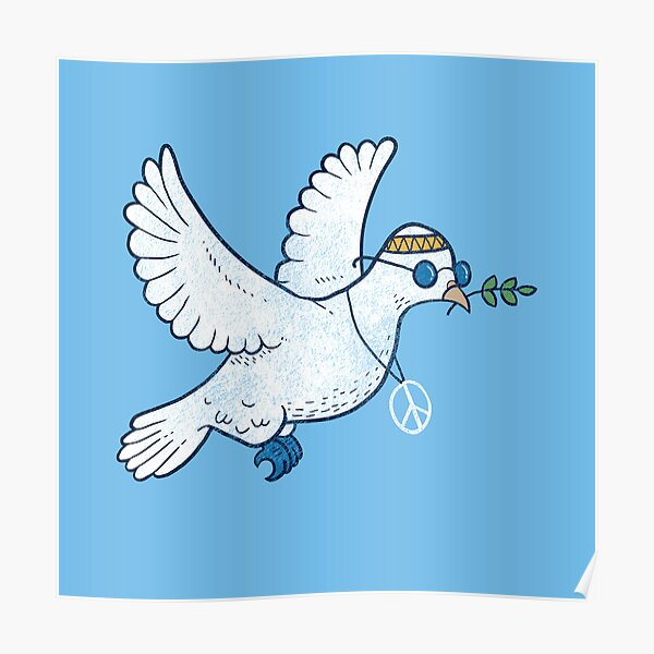 The Hippie Dove Poster