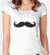 Mustache  Women's Fitted Scoop T-Shirt