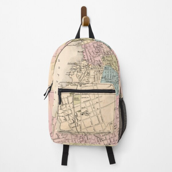 Vintage Map of Fall River MA (1878)Spindle City Backpack