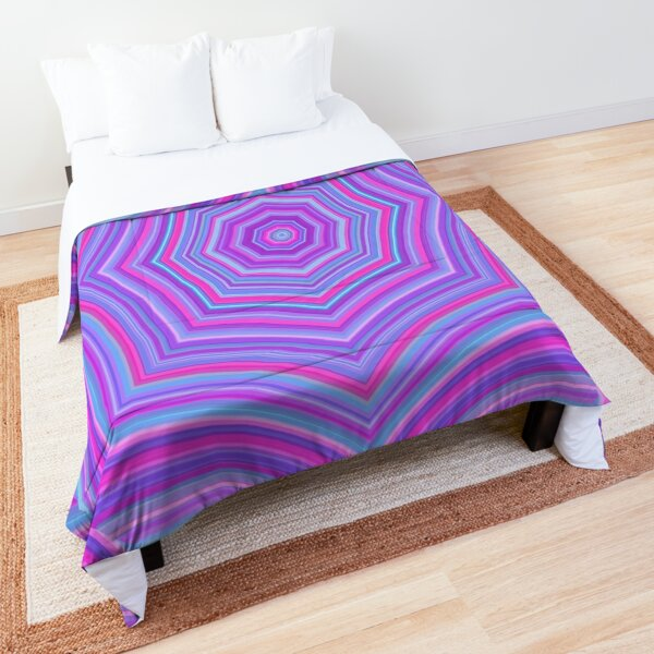 Colorful Web Pink Blue Comforter