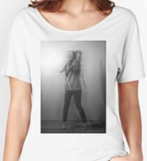 Black & White Motion Blur  Women's Relaxed Fit T-Shirt