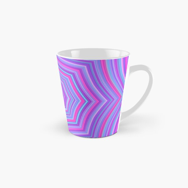 Colorful Web Pink Blue Tall Mug