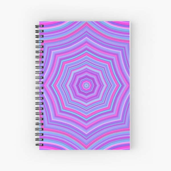 Colorful Web Pink Blue Spiral Notebook