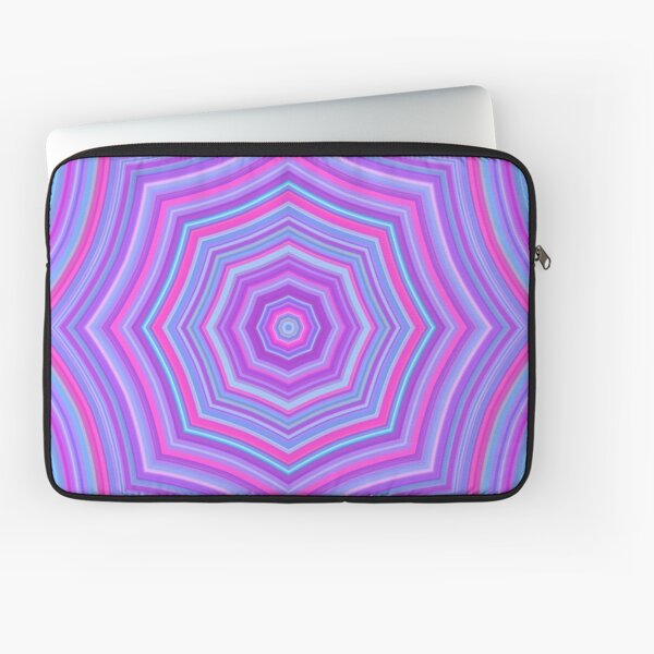 Colorful Web Pink Blue Laptop Sleeve