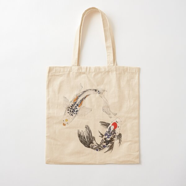 SNS- Koi Fish Cotton Tote Bag